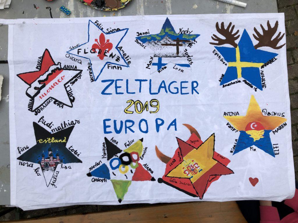 Zeltlager Banner